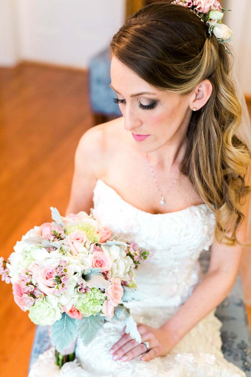 Blush And Green Bridal Bouquet By Foo Tes Flowers
