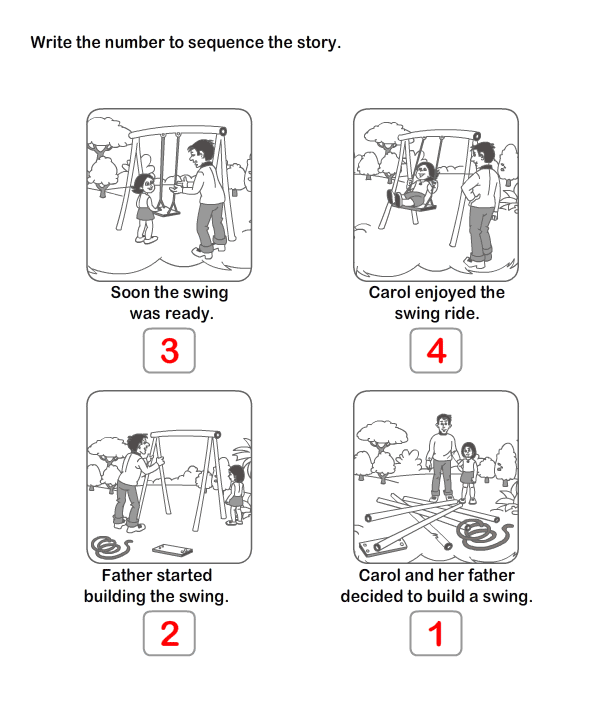 Educational Fun Games With Free Worksheets Worksheets For Kids – Kindergarten Sequencing Worksheet