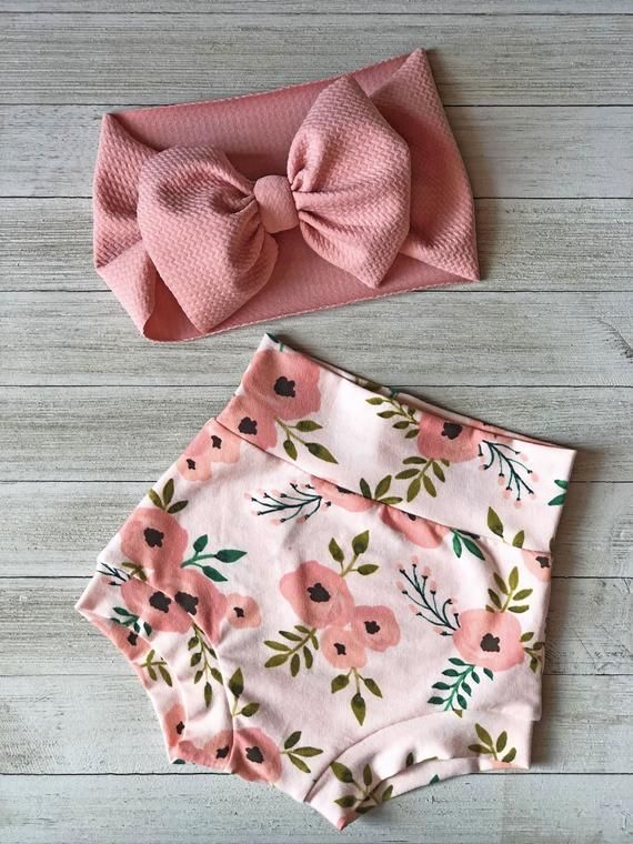 Floral Bummies and headwrap set