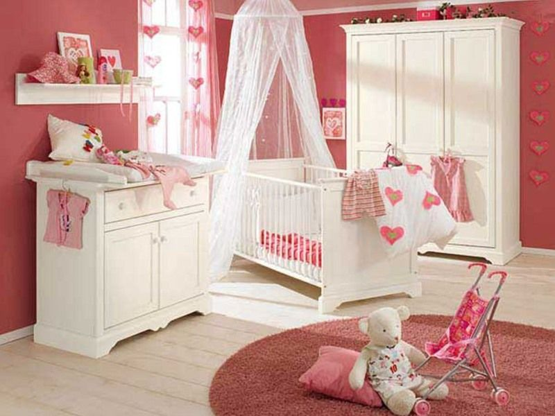 Cute Baby Bedroom Interior Design Ideas In Pink Color