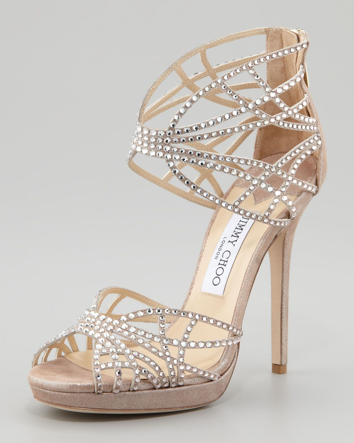 new concept amazon on wholesale Jimmy Choo Diva Crystal Cutout Sandal | Homecoming shoes, Heels ...