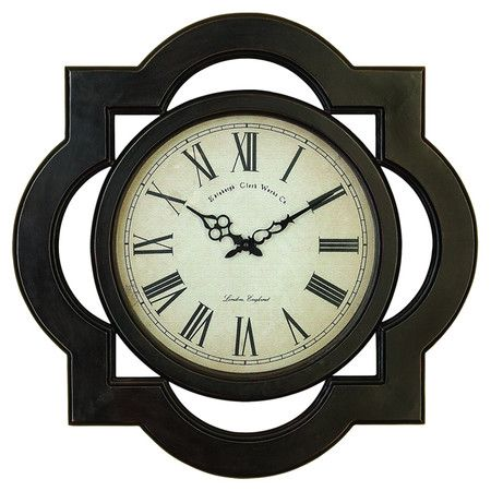 Wall Clock With A Quatrefoil Frame Product Wall Clockconstruction Material Mdf And Glasscolor Wall Clock Traditional Wall Clocks Large Wall Clock
