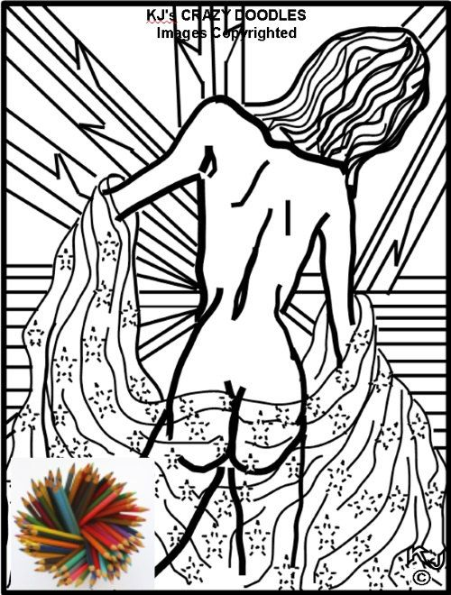 MODELING BACK VIEW Coloring Pages for Adults and More Advanced - new advanced coloring pages pinterest