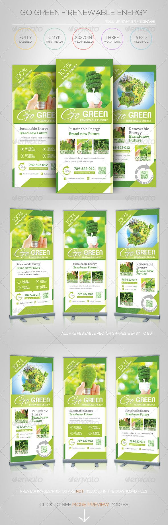renewable energy go green roll up banner signage print