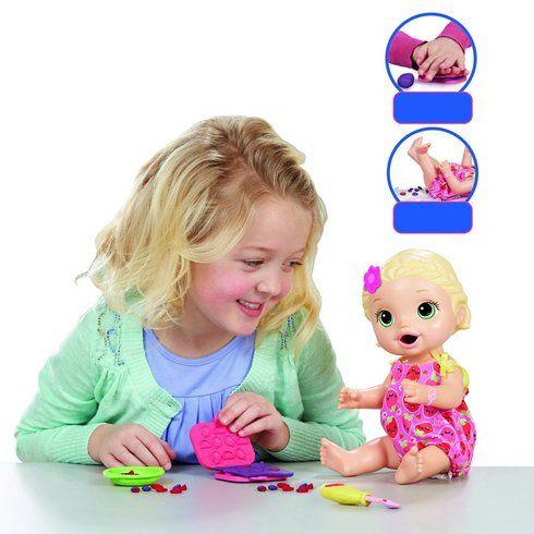 Baby Alive Super Snacks Snackin Lily Doll Blonde Smyths Toys Baby Alive Dolls Baby