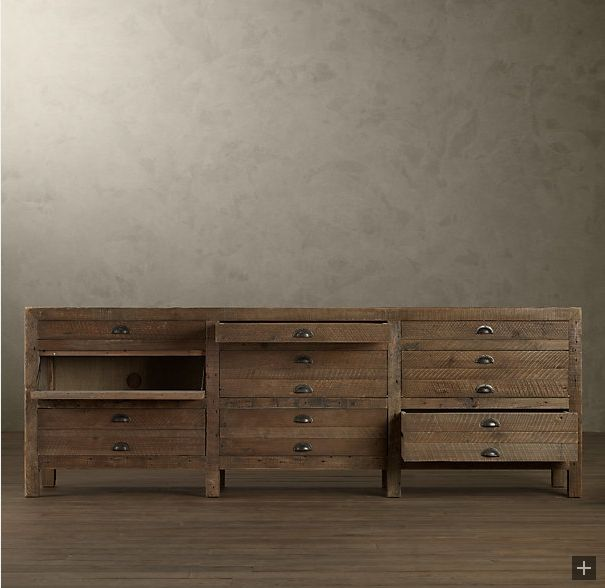 Restoration Hardware Printmakers Media Cabinet