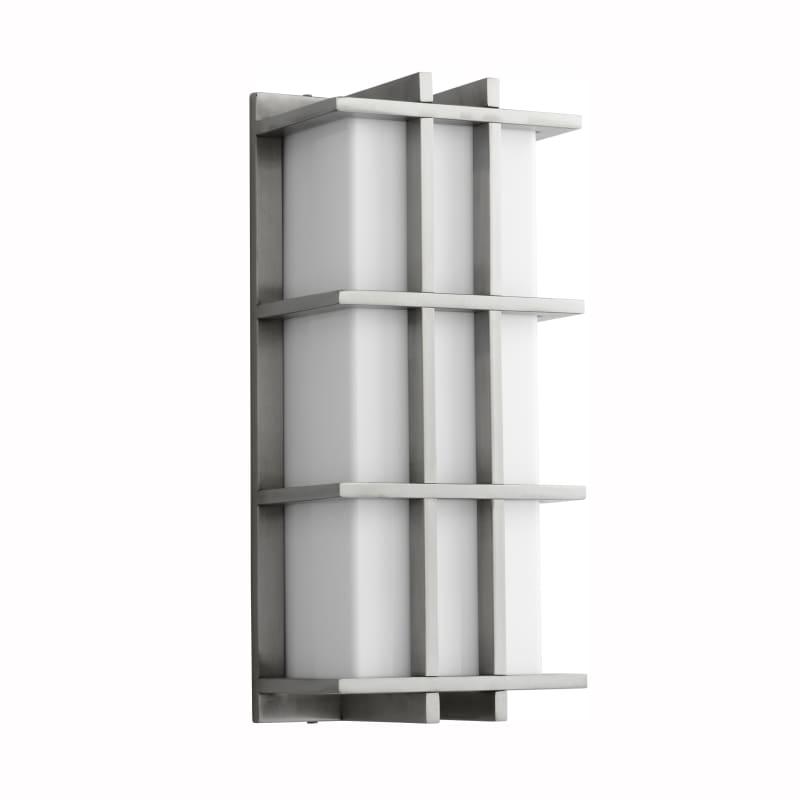 """Oxygen Lighting 37-710 Telshor 17"""" Tall 1 Light Commercial 277V Outdoor LED Wall Satin Nickel Outdoor Lighting Wall Sconces Outdoor Wall Sconces"""