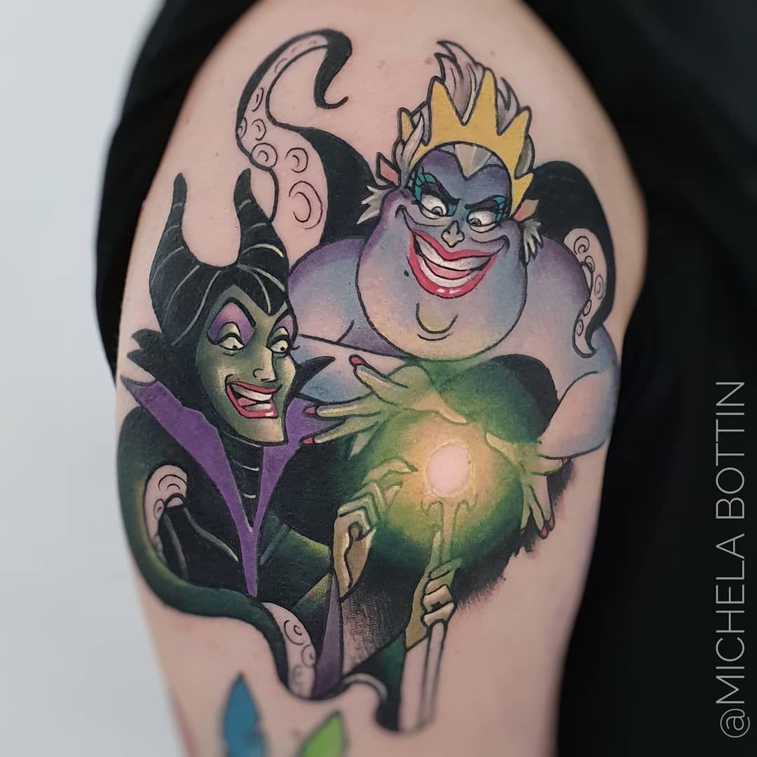 Michela Bottin Tattoo Artist On Instagram Work In Progress Frontedelportotattoo Using Worldfamousink Fkirons Ursula Tattoo Cartoon Tattoos Disney Tattoos
