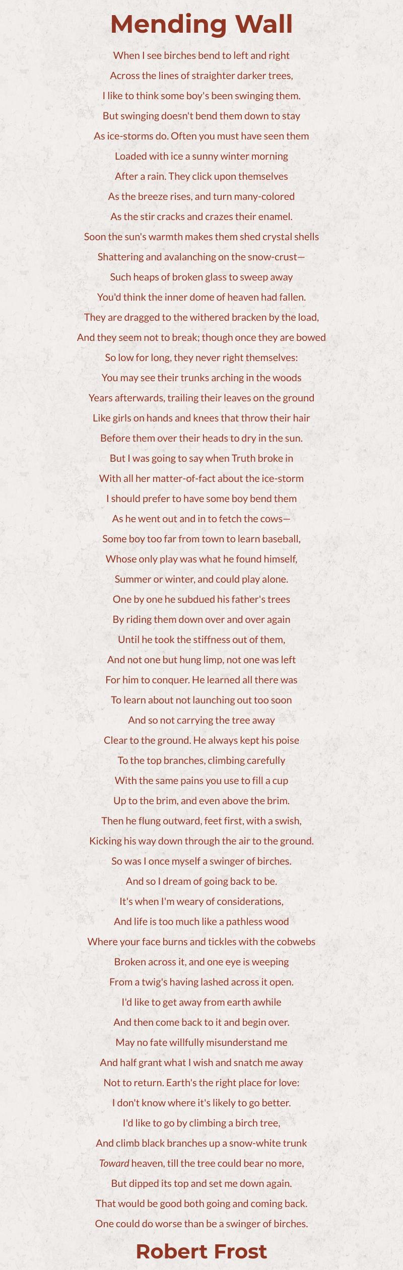 Mending Wall Poem Summary William Blake Of The Ozymandia By Shelley
