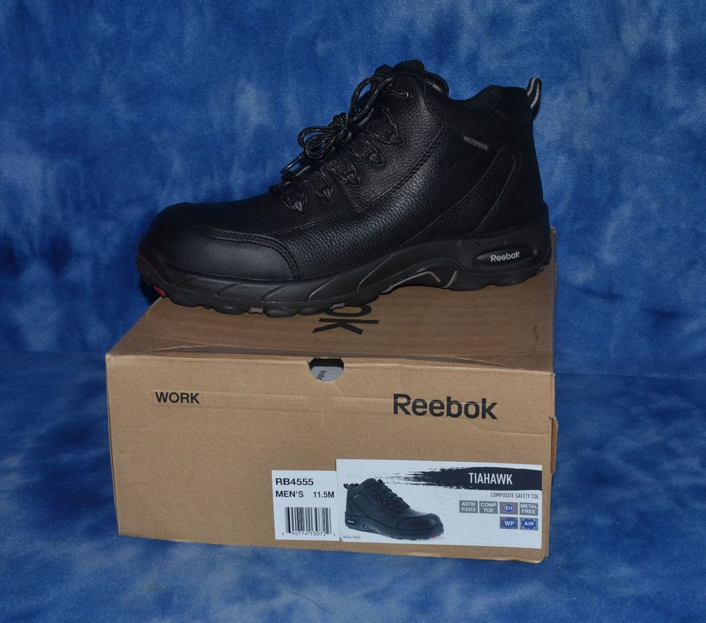 0958926fb58 Reebok RB4555 Tiahawk Mens Black Waterproof Comp Toe Sport Hiker ...