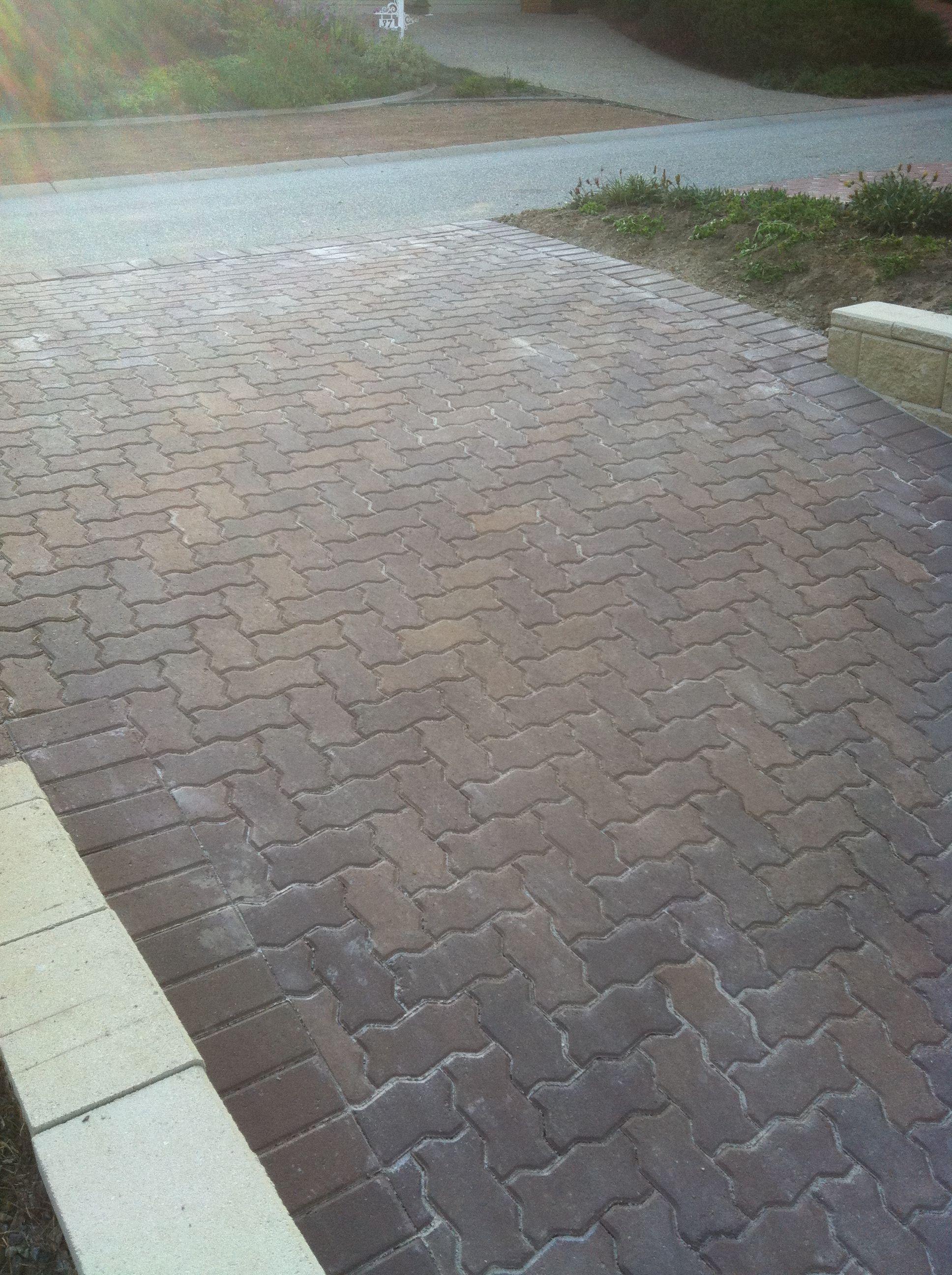 Driveway paving Adbri pavers 230mm x 115mm