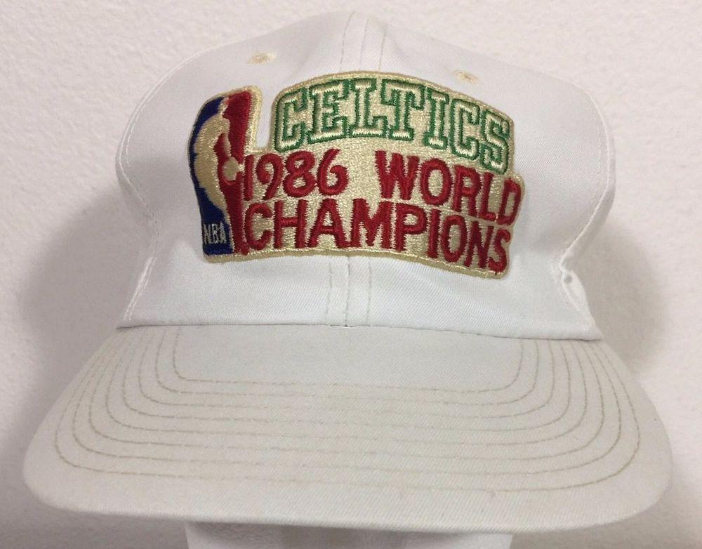 3f4002eedc2 NEW Vintage Boston Celtics 1986 NBA World Champions Cap Snapback Hat   SportsSpecialties  BostonCeltics