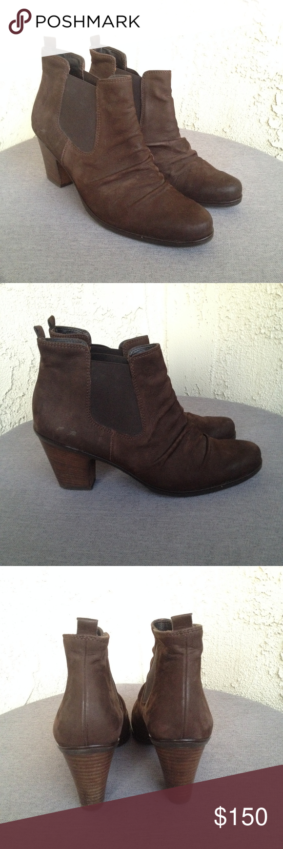 separation shoes 74d40 e6b0f Paul Green Shoes | Paul Green Jano Brown Suede Leather Ankle ...