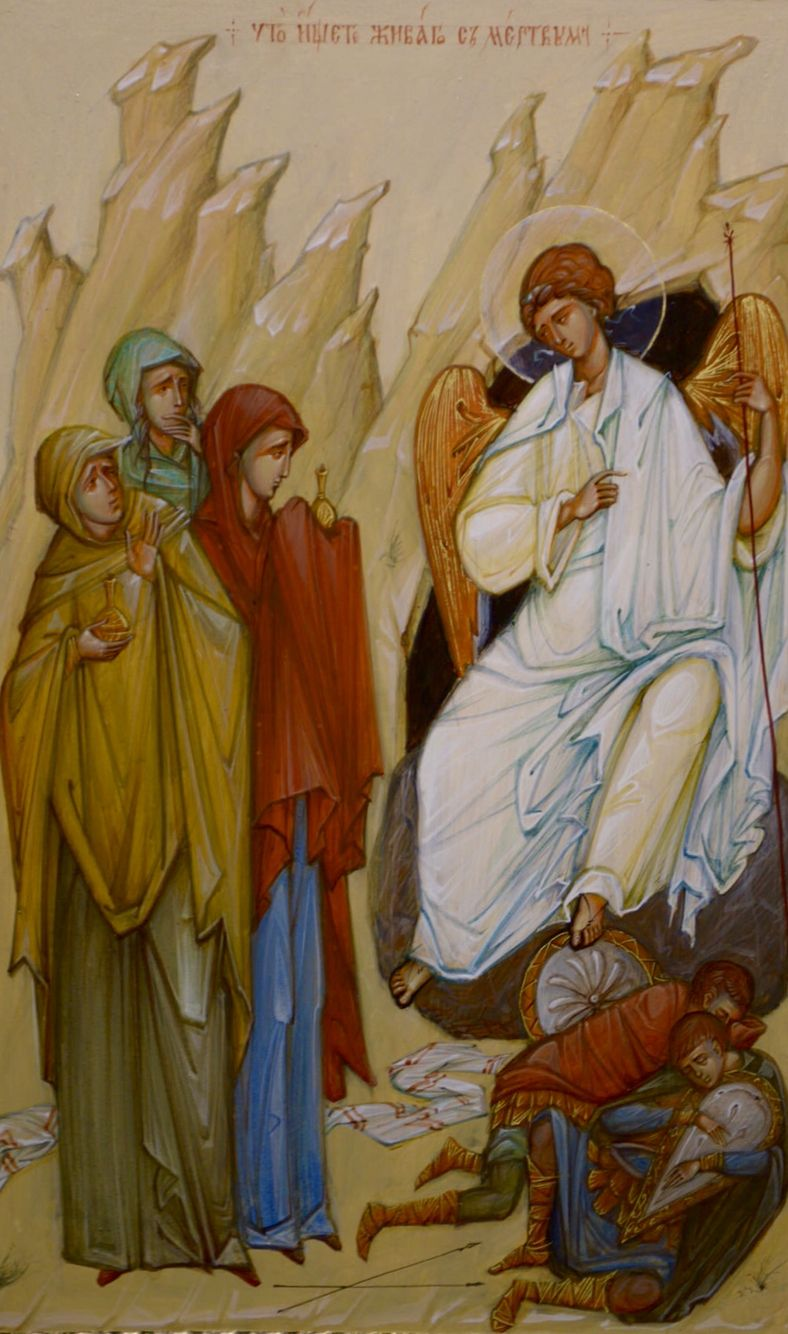 Myrrhbearers at the Empty Tomb by Svetlana Rzhanitsyna