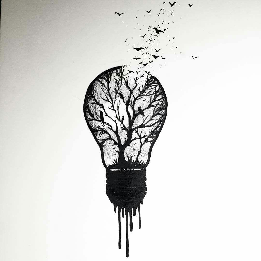Tattoo Idea Lightbulb Tattoo Vorlagen In 2019