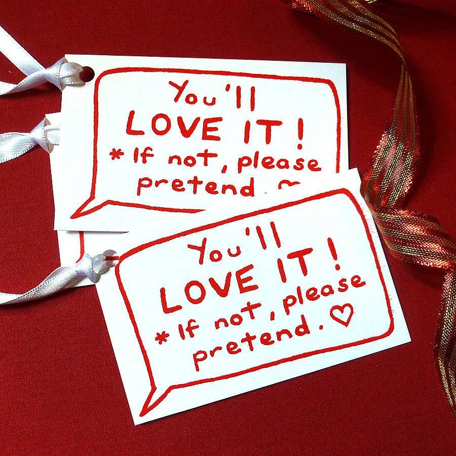 Joke Screen Printed Gift Labels from notonthehighstreet.com ...