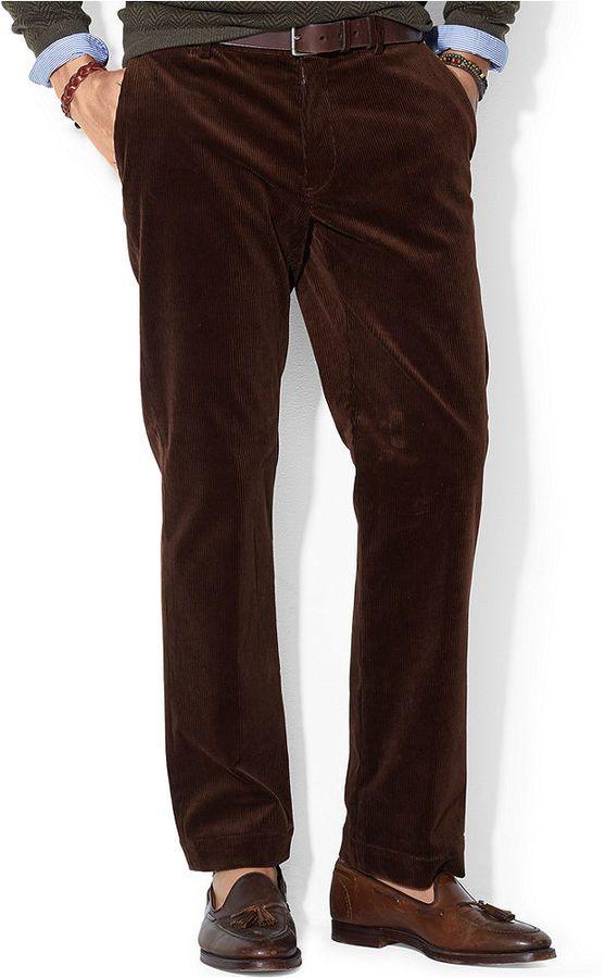 Kleidung & Accessoires Ralph Lauren Polo Mustard Corduroy Trousers Pants 34x32