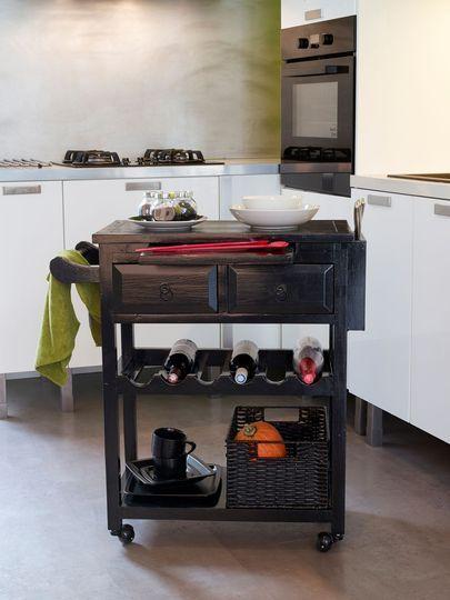 relooker un meuble avec de la peinture ou du vernis | atelier ... - Meuble Desserte Cuisine