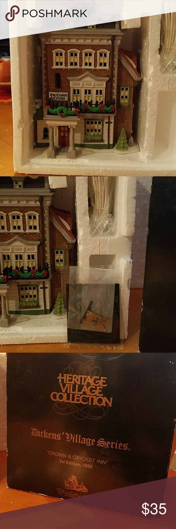 Dept 56 Dickens Village Crown Cricket Inn Nib Dept 56 Dickens Village Dickens Village Colorful Decor