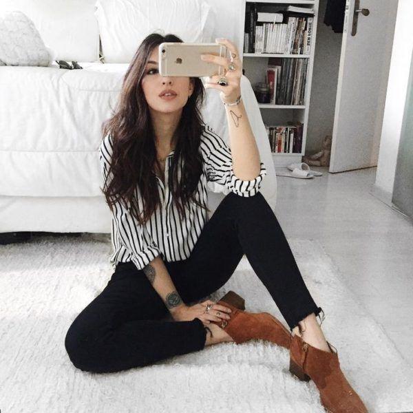 16 Outfits Para Verte Guapisima Con Skinny Jeans Negros Outfits Ropa De Moda Ropa
