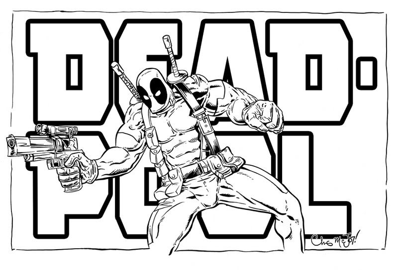 Deadpool Marvel 16 Coloring Pages Printable: Deadpool Printable Coloring Pages - Enjoy Coloring