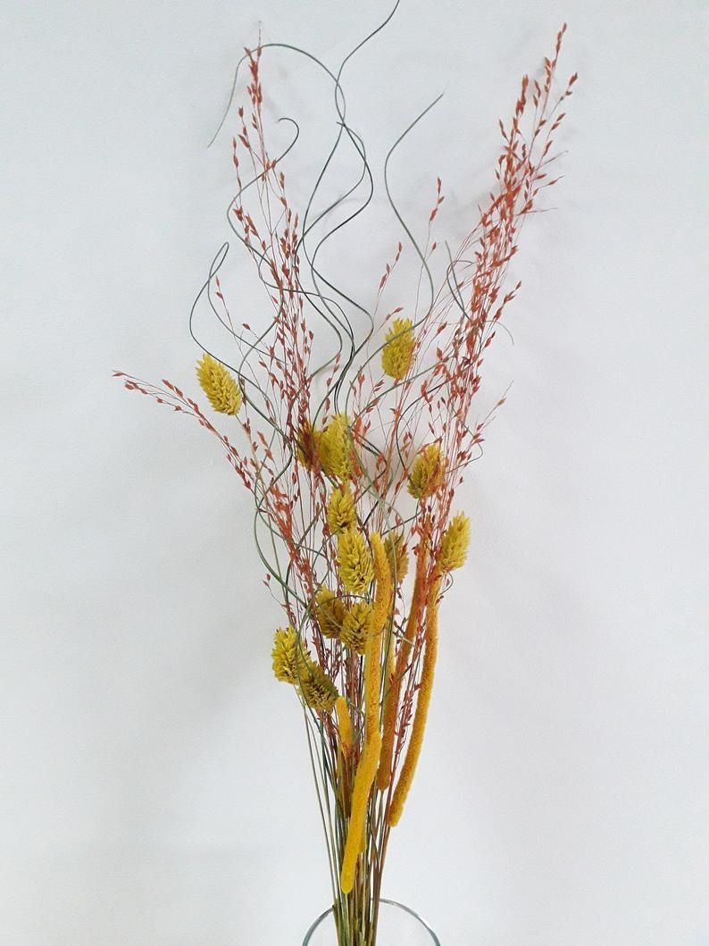 Tall Dried Flowers For Vase Long Stem Dried Flowers For Etsy Tall Flower Arrangements Dried Flower Bouquet Tall Flowers