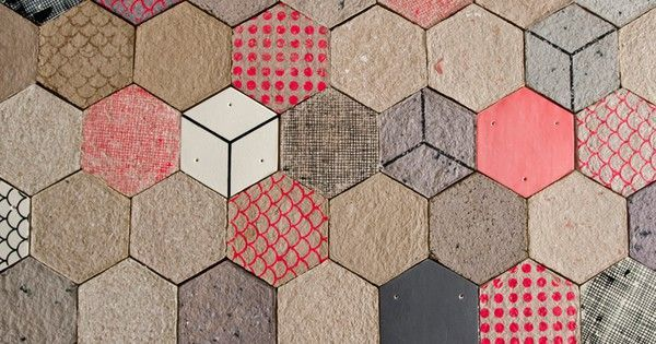 Dear Human S Wallpapering Tiles Are Formed Using Recycled Paper Tiles Textures Patterns Wallpaper
