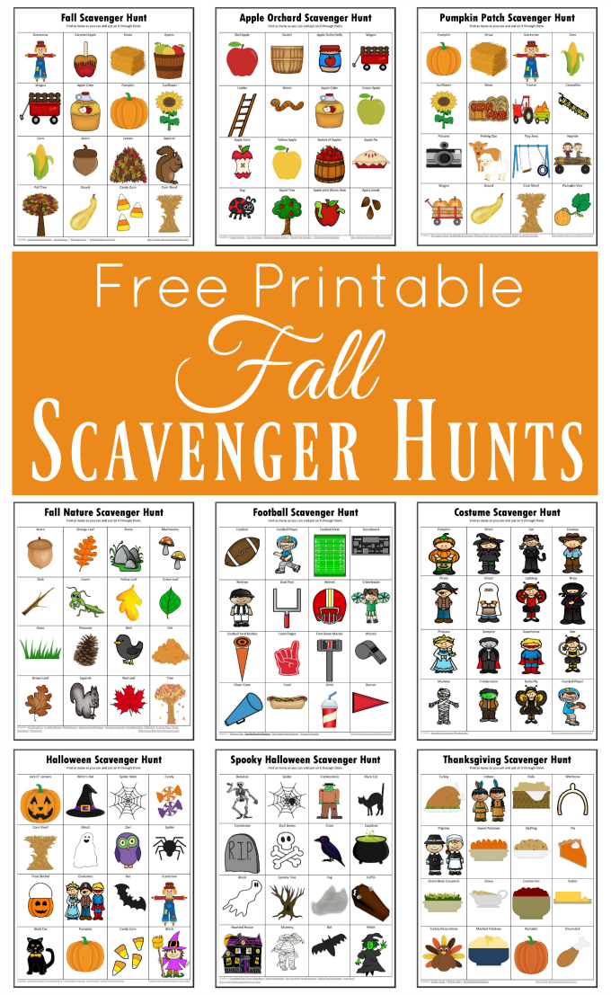 Fall Scavenger Hunts {Free Printable} Autumn activities