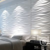 Panneaux muraux 3d vagues doncarli d design revetement 3d - Panneau mural chambre ...