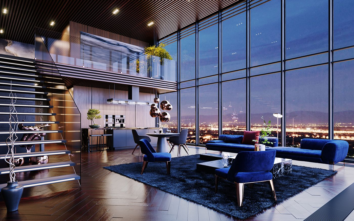 Luxury Penthouse in Los Angeles, USA | CGI | on Behance ...
