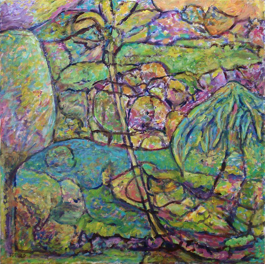 """Three Trees.  Acrylic On Canvas 30"""" x 30"""" 2013"""