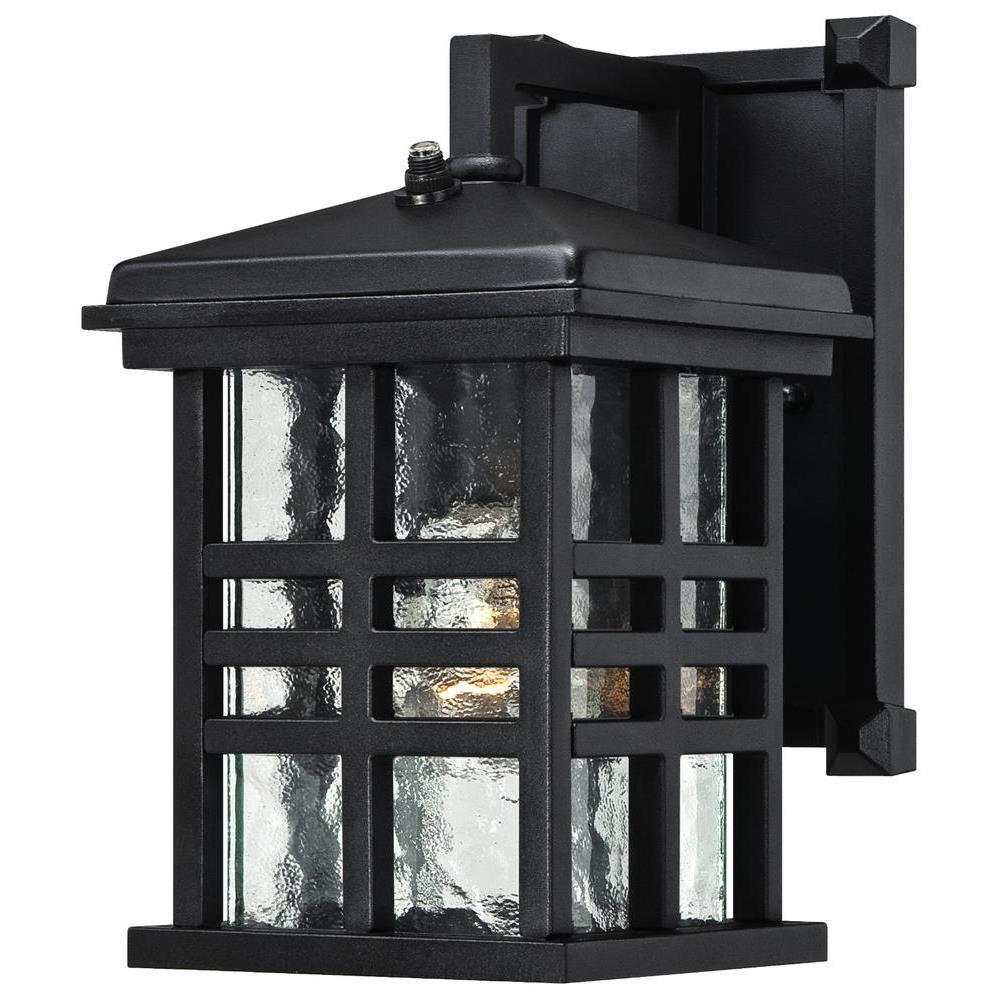 Westinghouse Caliste Textured Black Outdoor Dusk To Dawn Wall Lantern Sconce 6204500 The Home Depot Exterior Light Fixtures Wall Lantern Outdoor Wall Lantern Dusk to dawn wall lighting