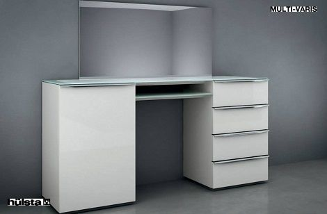 Kaptafel Met Spiegel : Hulsta mult varis kaptafel of commode kleur : wit laque spiegel