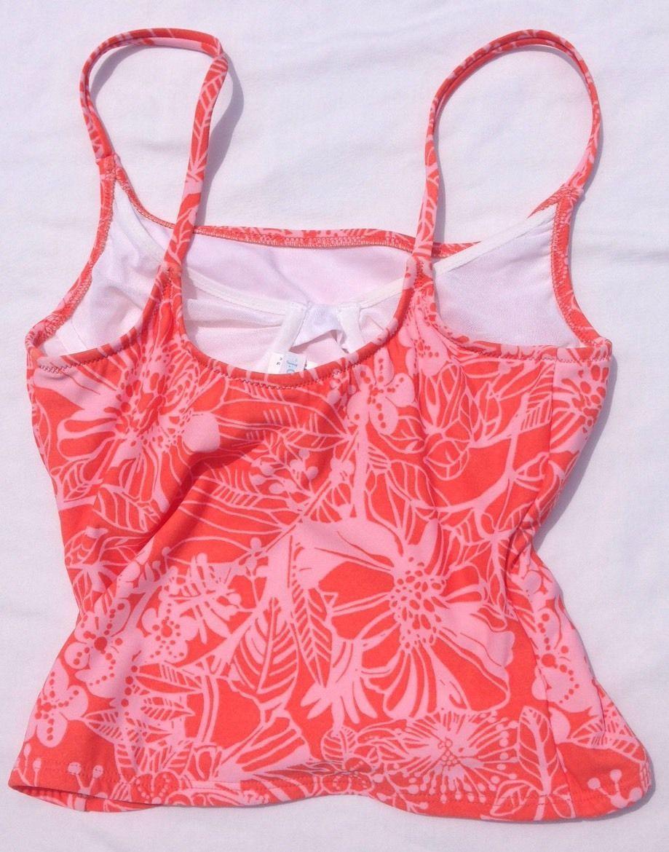 J Crew Orange Floral Tankini Top Only Swim Underwire Bra Size 4 | eBay