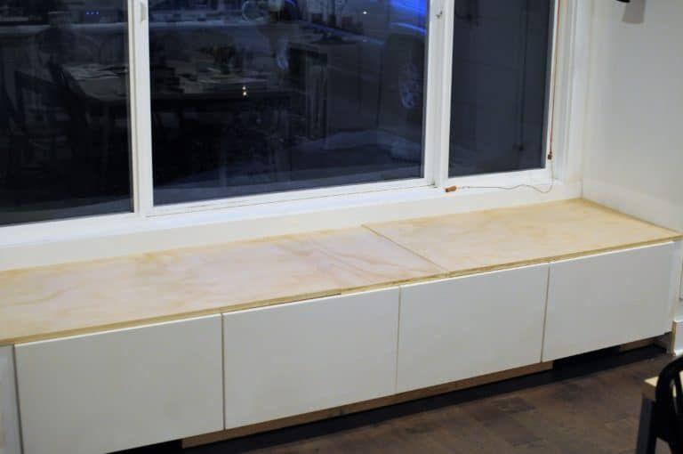 Diy window seat with storage out of ikea window