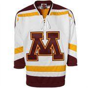 39533de3f Minnesota Golden Gophers White Tackle Twill Hockey Jersey