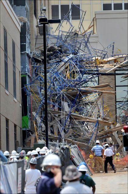 window washing scaffold collapse