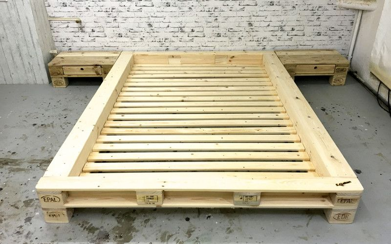 Betten   Palettenbett U0027New Yorku0027 Ohne Kopfteil 140 Cm   Ein Designerstück  Von SL
