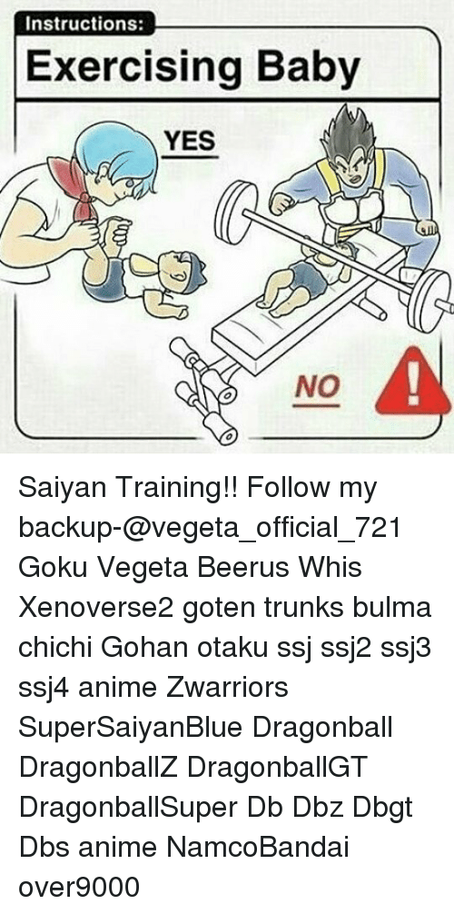 Instructions Exercising Baby Yes No Saiyan Training With