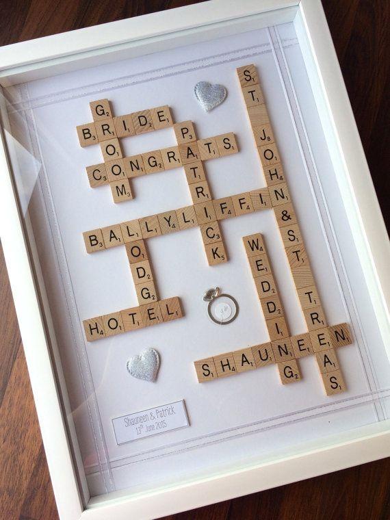 Wedding Gift Frame - Personalised Scrabble Style Art | Pinterest ...
