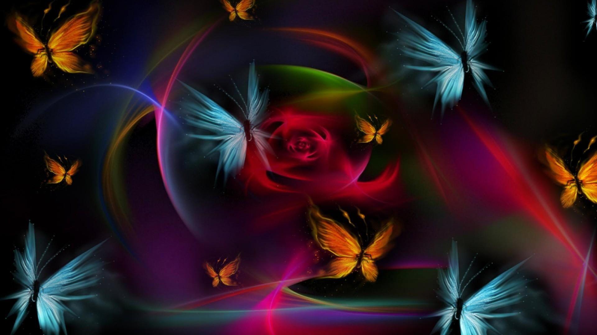 digital art #3d #butterflies #butterfly #flower #colorful ...