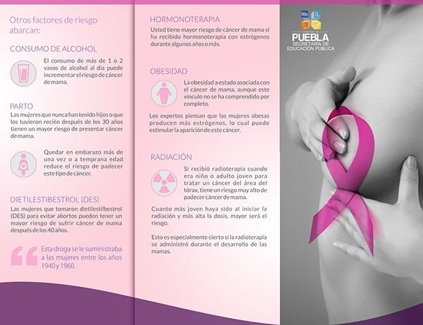imagen de un seno con cancer de mama