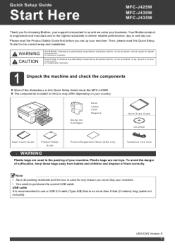 brother international mfc j430w quick setup guide english rh pinterest com Brother MFC J435W Ink Brother MFC J435W USB