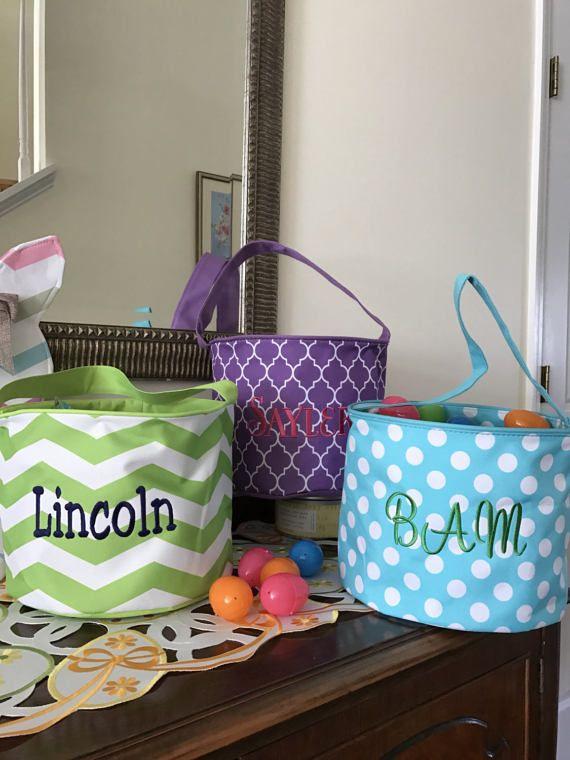 Monogram Easter Baskets Kaileysmonogram #easter #kids #monograms