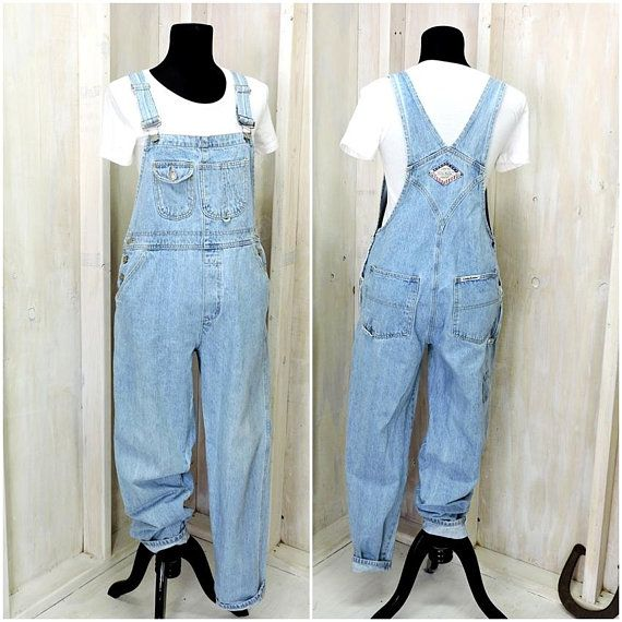 a58841a4eb29 womens overalls   90s London London overalls   size M   90s grunge   light  wash bib overalls   overall pants