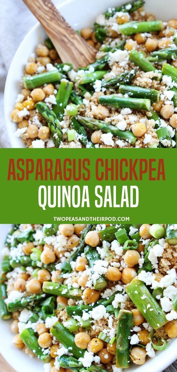 Spargel Kichererbsen Quinoa Salat  – Skinny Quinoa Recipes