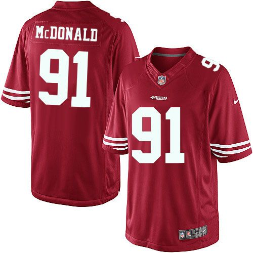 598aa4a2744 ... Womens Men Nike San Francisco 49ers 91 Ray McDonald Limited Red Team  Color NFL Jersey Sale ...