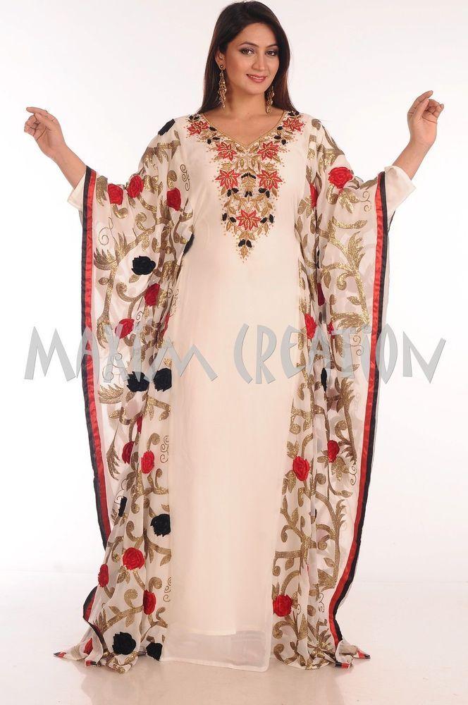a9171aee34 NEW DUBAI CAFTAN JILBAB JALABIYA FANCY MODERN THOBE WEDDING GOWN DRESS 5070  #MaximCreation #Kaftan #Formal