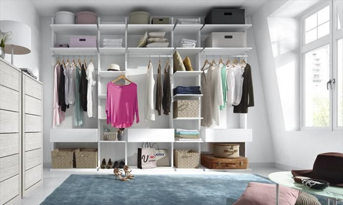 vestidor abierto con soluciones personalizadas como pantaloneros corbateros y zapateros amplia modularidad y acabados adaptables a tus necesidades - Vestidor Abierto