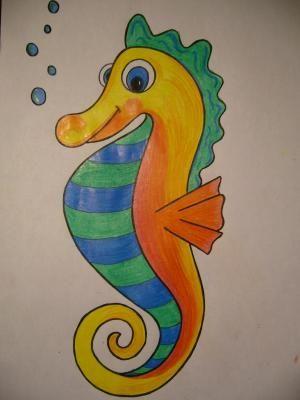 Como Dibujar Un Caballito De Mar 9 Pasos Caballito De Mar
